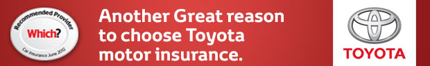 Another Great Reason to Choose Toyota - Motor Insurance!