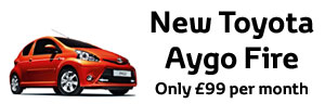Special Offer - New AYGO Fire only 99 per month + 1 years free insurance