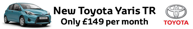 A New Toyota Yaris for just £149 per month with 1 years free insurance