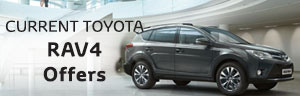 Toyota RAV4 from £399 a month + £1000 Finance Deposit Allowance + 4.9% APR Representative