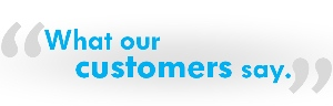 What our customers say